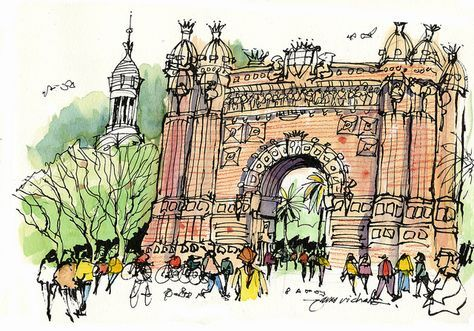 Busy City Sketches by James Richards - great lesson on quick sketching