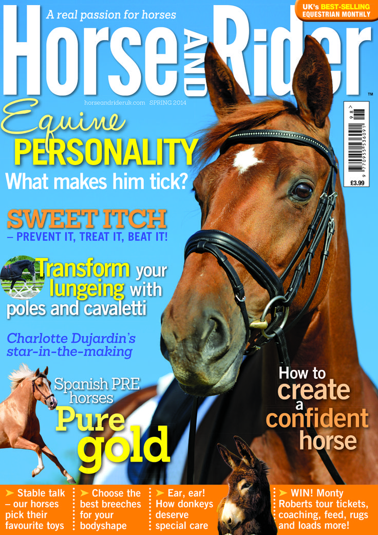 Spring Horse&Rider is out tomorrow! (20th Feb) Learn about sweet itch science and remedies, transform your horse with cavaletti and pole work on the lunge. Check out Charlotte Dujardin's up and coming youngster and create a confident, spook-proof horse with Emma Massingale's top tips. Buy your copy now http://www.horseandrideruk.com/shop/magazines/magazine-store