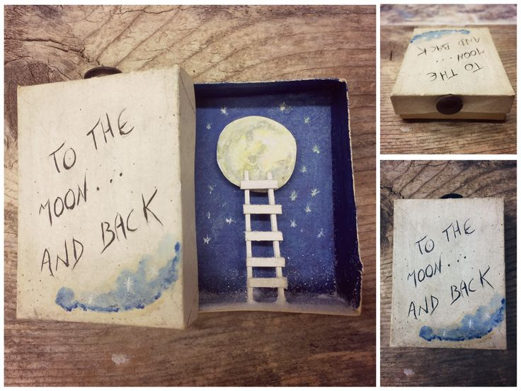 """""""To the moon and back"""" #magicboxes #scatolemagiche #matchboxes"""