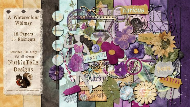 A Watercoloured Whimsy by Nutkin Tailz Designs.