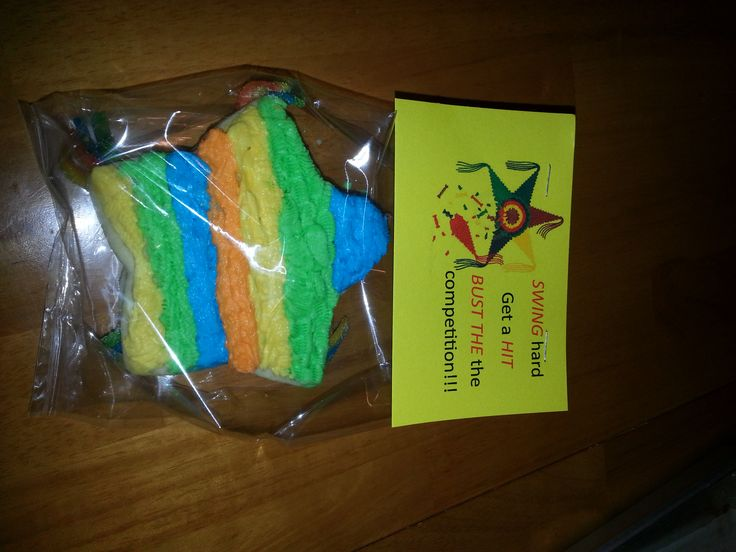 softball team treats, cinco de mayo, pinata cookie