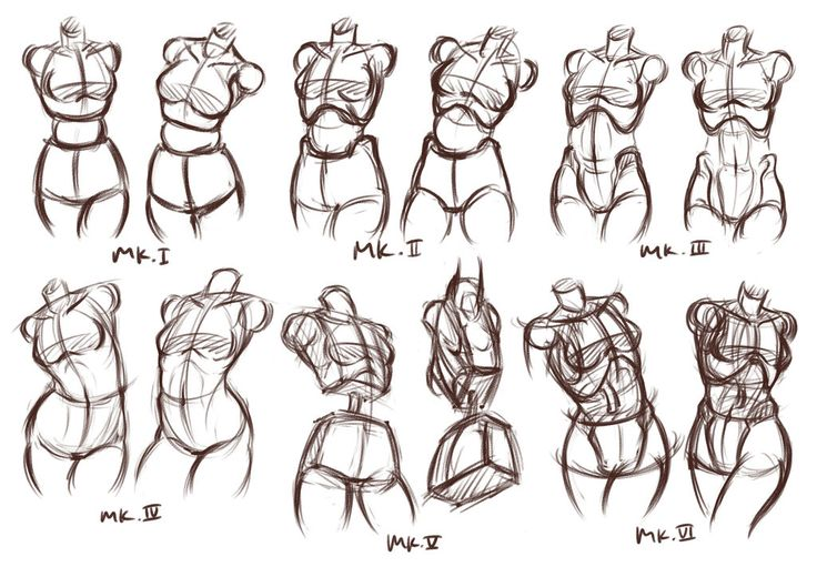 """Figure Drawing Documentation (or Evolution?) that I used Mk. I - copying wooden doll Mk. II - copying ball jointed doll Mk. III - got this from Andrew Loomis Mk. IV - using """"the bean"""" of Proko, pra..."""