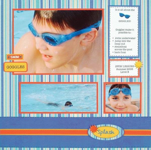 It's All About the Goggles--scrapbooking layouts, scrapbook ideas, PaperWishes