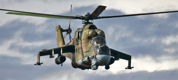 Video Shows Russian Mi-24 Hind Attack Helicopters In Intense Action Over Syria
