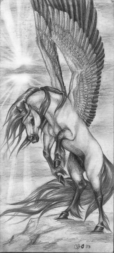 Ideal head position    Pegasus by Mutley-the-Cat.deviantart.com on @deviantART