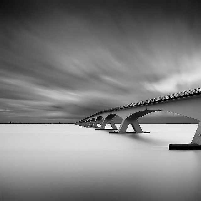 Zeeland Bridge - longest bridge in the Netherlands. Childhood memories .