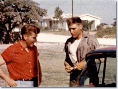 """Elvis & Buddy Knox [an American singerbest known for his 1957 rock hit song, """"Party Doll""""]"""