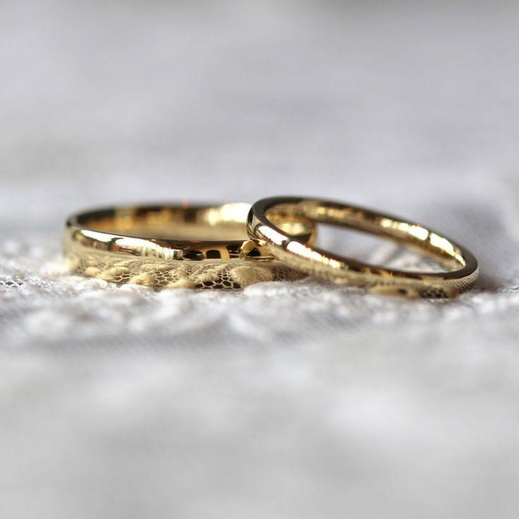 鏡面仕上げの輝きが素敵なゴールドのマリッジリング 結婚指輪,marriage,K18 Gold,ウエディング,wedding