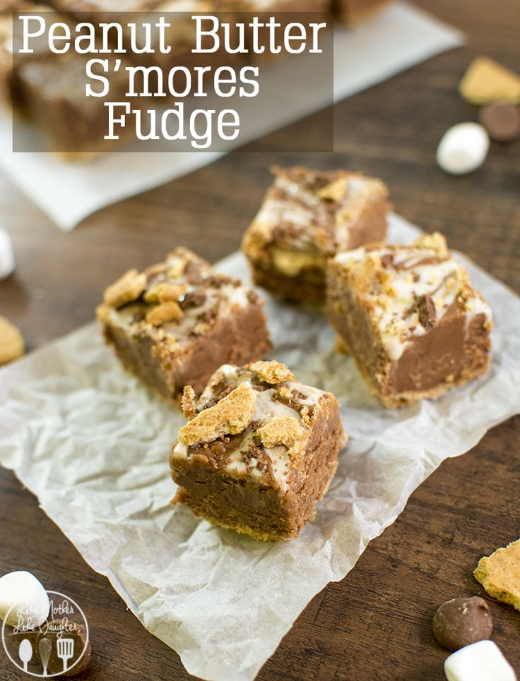 Peanut Butter S'mores Fudge - this is the best fudge ever, its got a graham cracker crust, the creamiest chocolate peanut butter fudge in the middle and is topped with a marshmallow swirl. Perfect for a holiday treat! #Pbandg #ad
