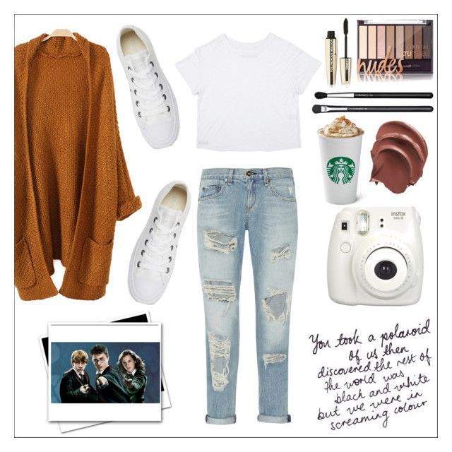 """Untitled #13"" by siggan22 on Polyvore featuring rag & bone, Converse, Fujifilm, MAC Cosmetics and L'Oréal Paris"