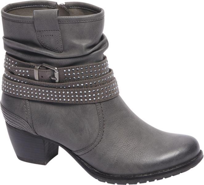 Graceland Ladies' Grey Slouch Ankle Boots | Deichmann