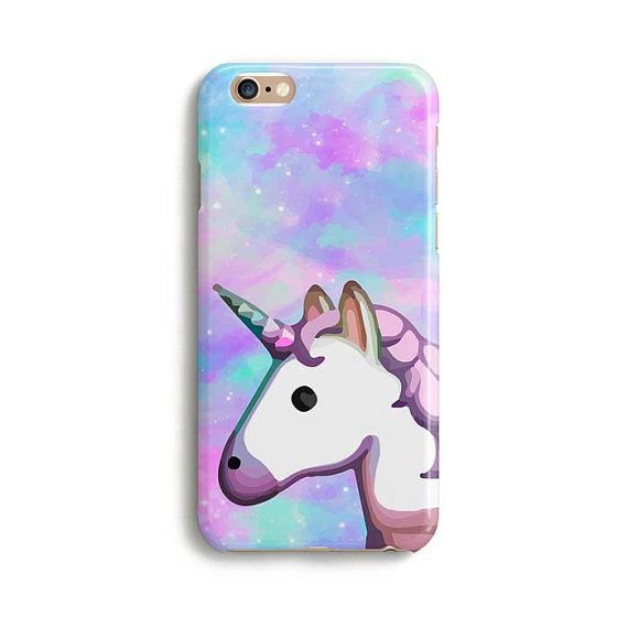 Unicorn emoji space rainbow iPhone 7 case samsung by PooSparkles