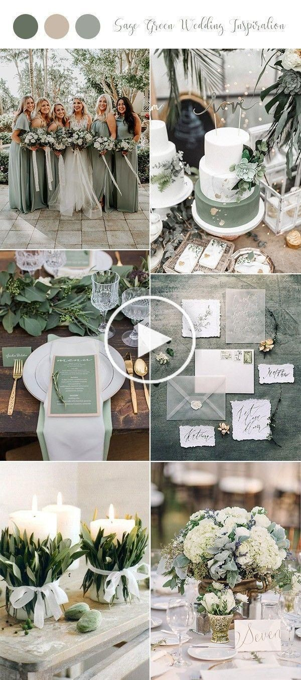 Hochzeit In Salbei Tonen Wunderschon Edel Und Gleichzeitig Modern Hochzeits Dekor Hochzeit Hochzeitsdeko Dekoration Hochzeit