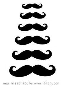 Imprimez vos moustaches...