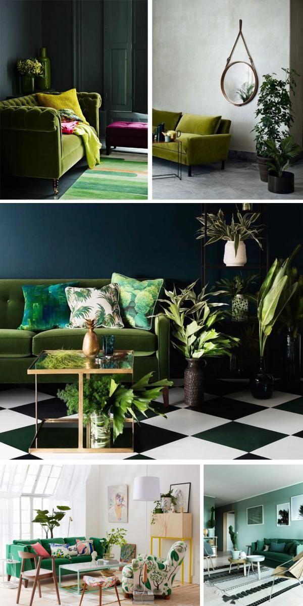 Inspiration Je Veux Un Canape Vert Deco Canape Vert Canape Vert Decoration Maison