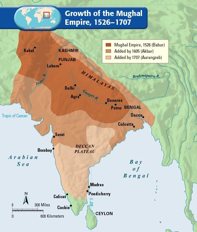 mughal empire Find mughal empire map, highlights the empire during babur, akbar and aurangzeb with cities and boundaries where they ruled.