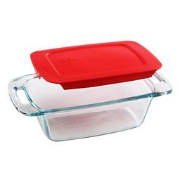 Easy Grab™ 1.5 Quart Loaf Dish w/ Red Lid (2)