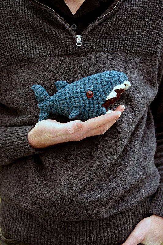 Samuel  Digital Crochet Pattern  Amigurumi Shark
