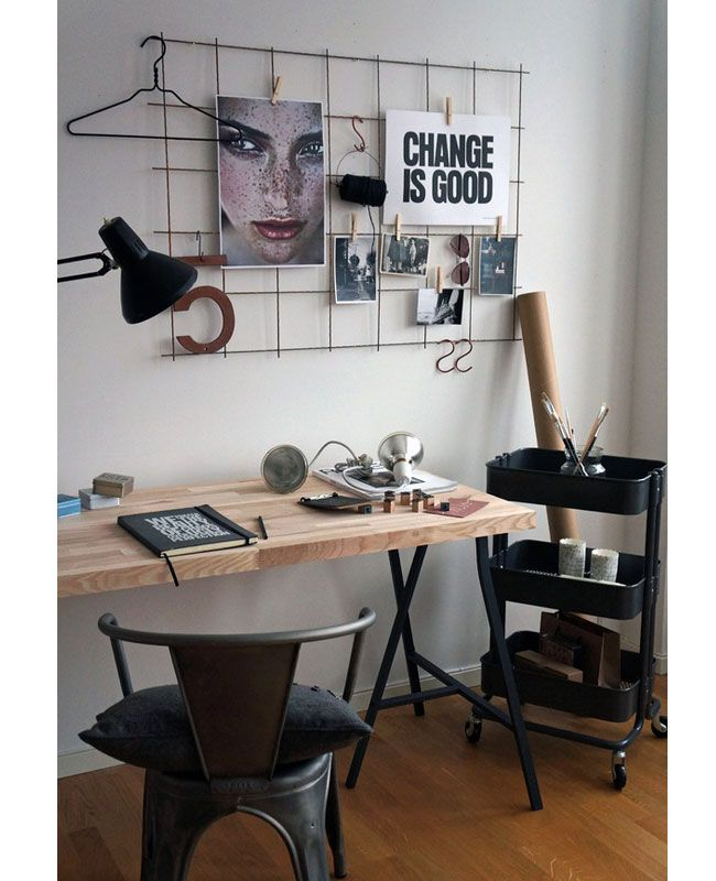 Give your space character by using a vintage wall hanging as your focal point. Decorate it with items that inspire you.