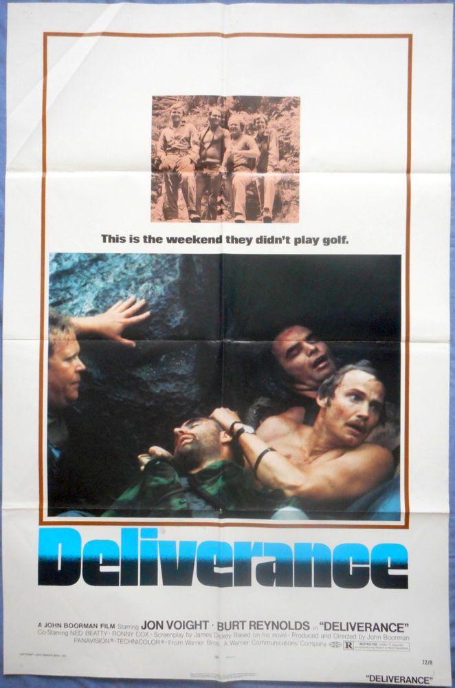 DELIVERANCE MOVIE POSTER Jon Voight Burt Reynolds 1sht 1972