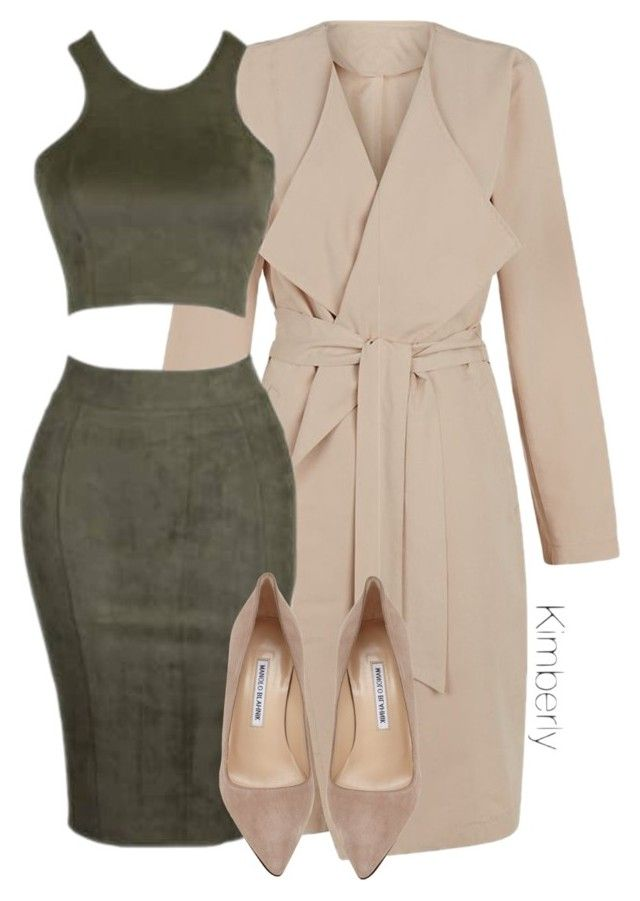 """""""Untitled #1765"""" by whokd ❤ liked on Polyvore featuring First & I and Manolo Blahnik"""