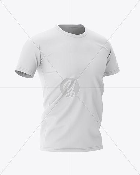 Download Men S Football Jersey Mockup Half Side View Crewneck Footballtshirt Male Roundneck Soccer Soccertshirt Clothing Mockup Sport Shirt Design Shirt Mockup