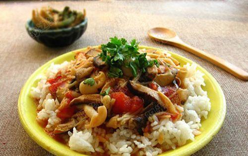 Ρύζι με σάλτσα κόκκινη και μανιτάρια   Μοναστηριακά Προϊόντα   Από το Άγιον Όρος στο σπίτι σας!