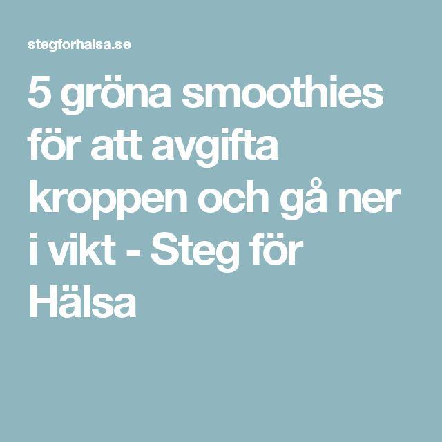 5 gröna smoothies för att avgifta kroppen och gå ner i vikt - Steg för Hälsa