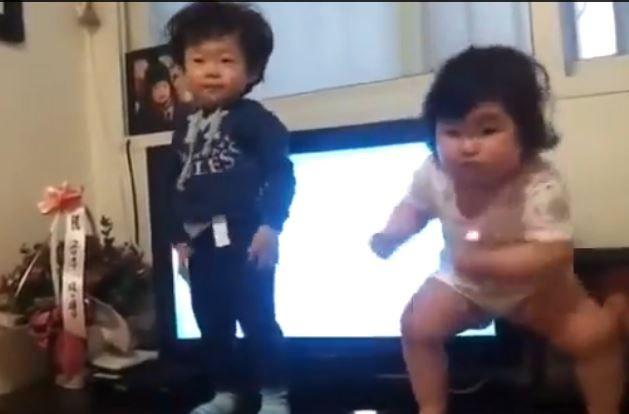 Tiny tots show off mega moves