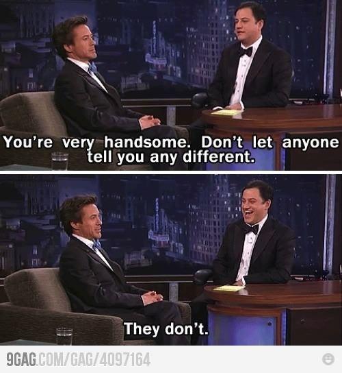 Gotta love Robert Downey Jr...