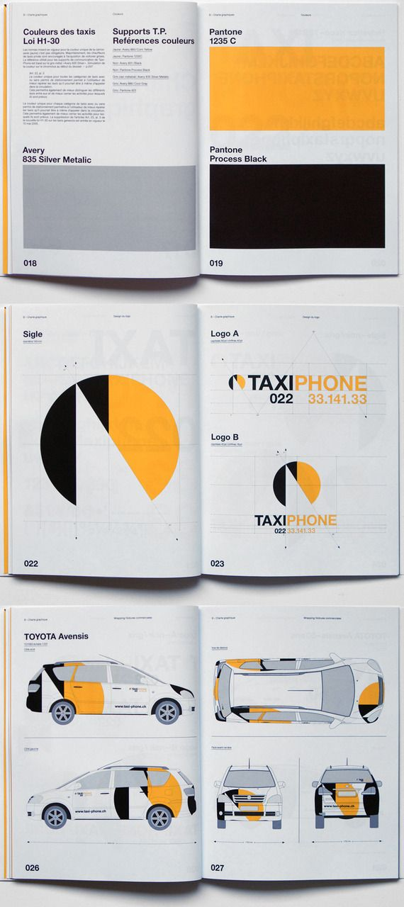 Brand Guidelines for TaxiPhone by Geneva-based League