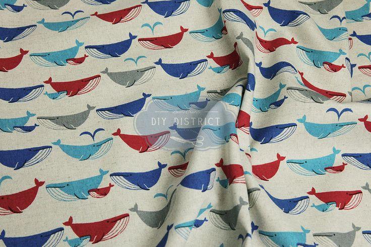 Tessuto con animali - Tessuto giapponese moderno. - un prodotto unico di DIY-District su DaWanda