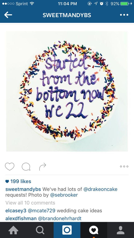 Drake on a cake