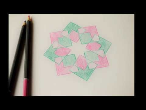 Islamic Geometric Patterns اشكال هندسية اسلامية Islamic Art Youtube Art Geometric Pattern