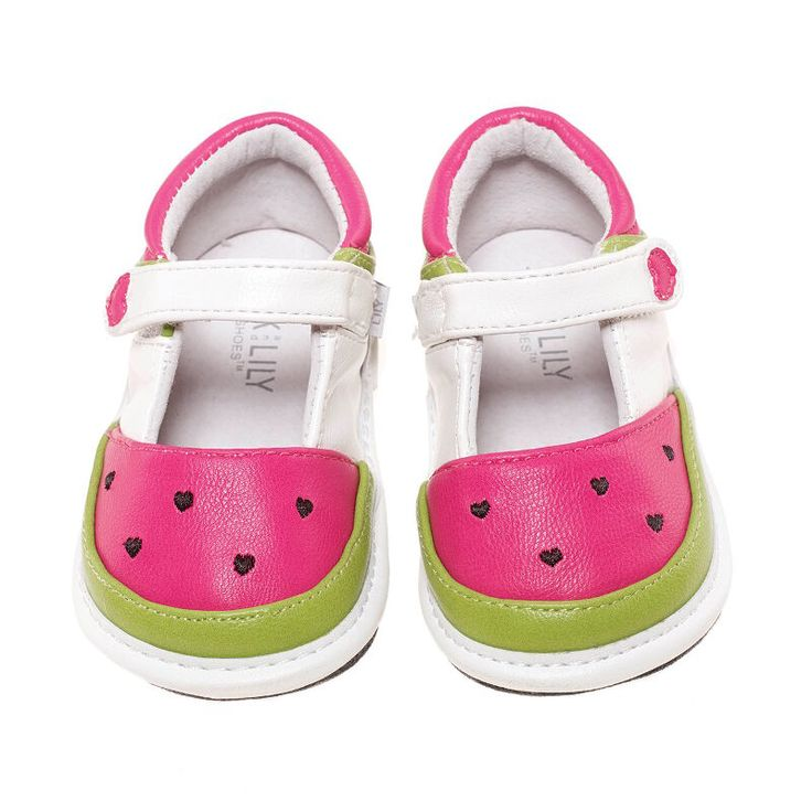 Shop Jack & Lily's online store for our Summer shoes with the watermelon fuchsia & white style.