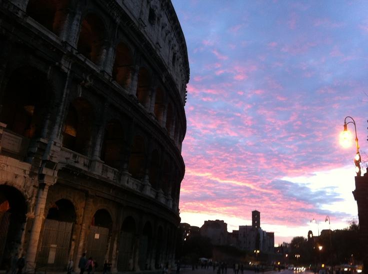 Colosseum, Rome. Falltime. Sunset.