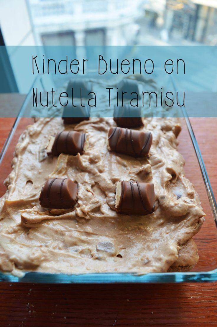 Kinder Bueno - Nutella Tiramisu