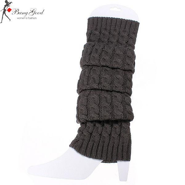 Women Knee High Leg Socks Winter Knit Crochet Warmers Legging