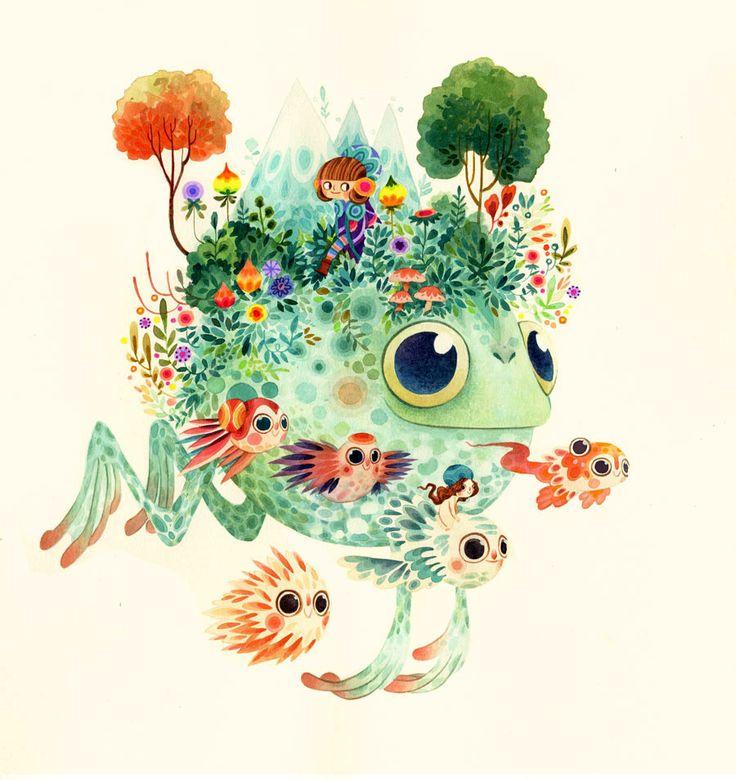 "Lorena Alvarez Gómez's piece for the ""Fantastical Flora & Fauna"" show at Gallery Nucleus."