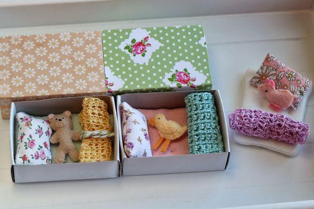 camas con cajas de cerillas De las manos de Jann - manualidades, tarjetas, recuerdos para toda ocasión