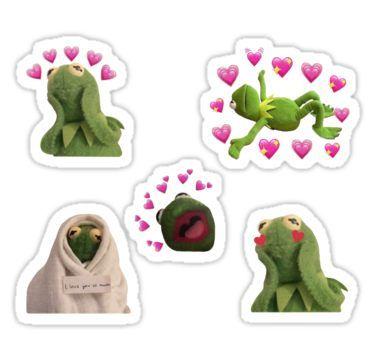 Kermit Love Meme Set Sticker Iphone X Wallpaper