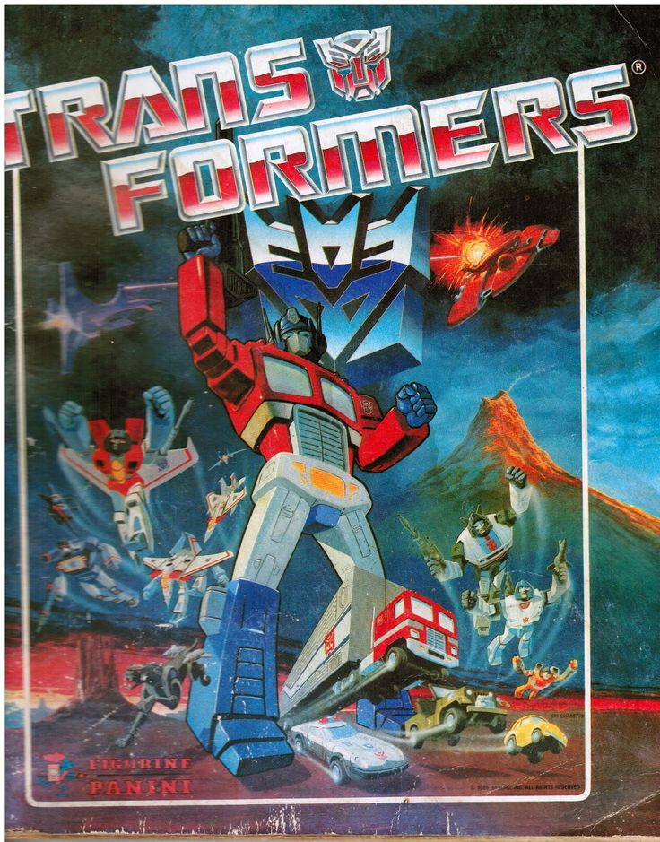 transformers panini sticker album