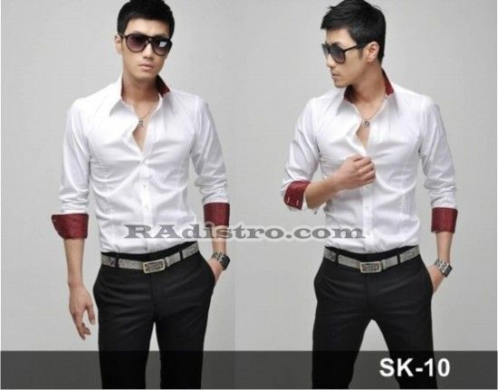 Sedia+Jual Kemeja Putih Korean Style Kode : SK-10   -->> Online, Murah, Berkualitas Loh gan :D  Minat?? HUB CS : 087839697949