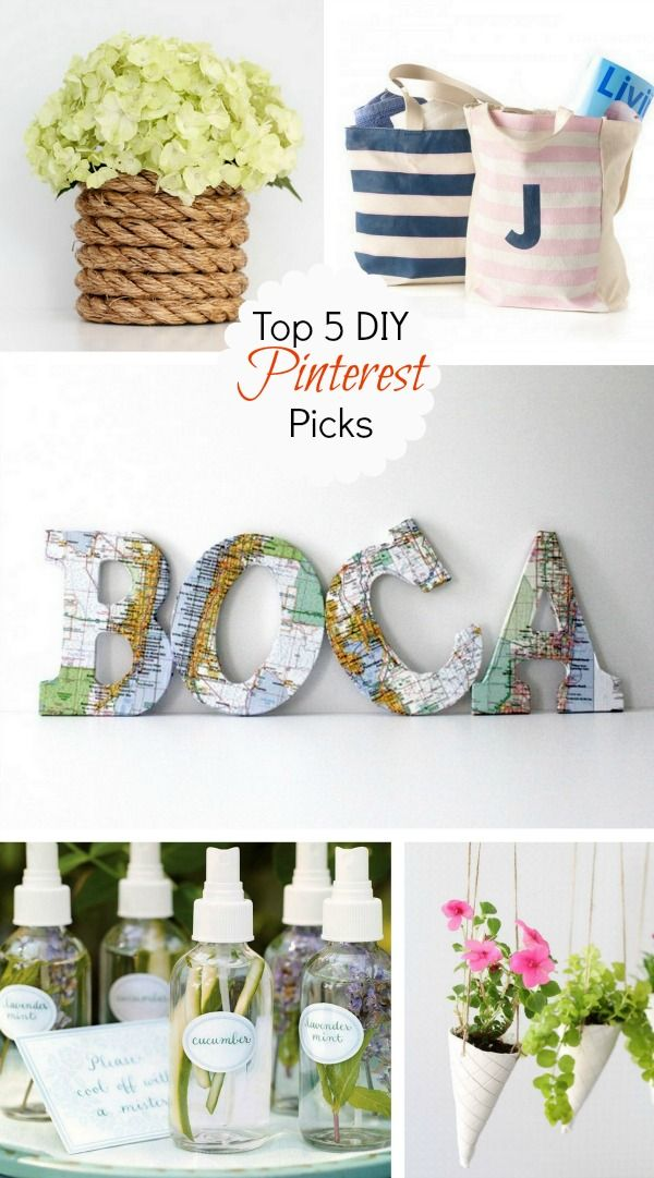 Easy Summer DIY Projects to try. Click through for materials needed and instructions.