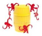 Barrel of monkeys as party favors for curious george party