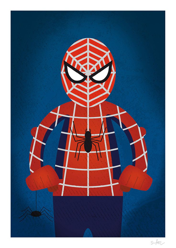 Spiderman illustration by Simon Ackeby #Spiderman #illustration #Poster #ackebydesign