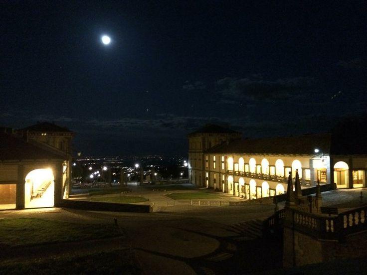 Santuario di #Oropa by #night. Foto di Gabriele Maiolino. #moon #madonna #luna #biella #piemonte #italy #alps