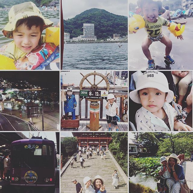 【aco.moa.yuui】さんのInstagramをピンしています。 《♡8/11  12日♡ 熱海〜鎌倉へ旅行に行ってきましたぁ😚 行きは渋滞で6時間かかった🚙🚕🚗💦 車の中で一番グズらなかったのはゆぅぃでした😳✨ 海水浴して🏖海の目の前のホテルに泊まって🏨美味しいもの食べて🐟温泉に入って♨️海沿いの散歩☺️ 次の日はクルージング🛥⚓️ ゆぅぃ怖がってたけどwたくさんのカモメに喜んでくれました💗 そこから藤沢駅まで行き🚙江ノ電で鎌倉へ〜🚃 初めて鶴岡八幡宮に行ったけど趣があって本当に素敵な場所でした⛩✨ 小町通りでたくさん食べ歩いて買い物してきましたぁ😘 楽しかった💕  #熱海  #海  #海水浴  #かもめ  #クルージング  #藤沢  #江ノ電  #鎌倉  #鶴岡八幡宮  #家族旅行  #3歳  #息子  #親バカ  #お盆休み  #渋滞嫌い  #旅行ってやっぱり楽しい  #早くまた旅行したい》