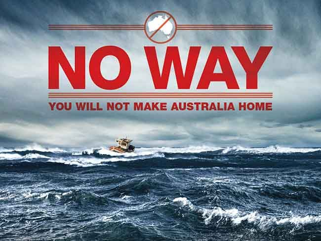 Anti immigration poster - Advance Australia Fair - or retreat Australia unfair?
