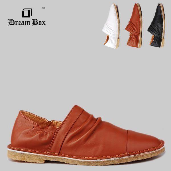 Dream Box июне Бо прилив Британский корейских мужские кожаные ботинки, мужская обувь дышащая мужская новая поп - Taobao